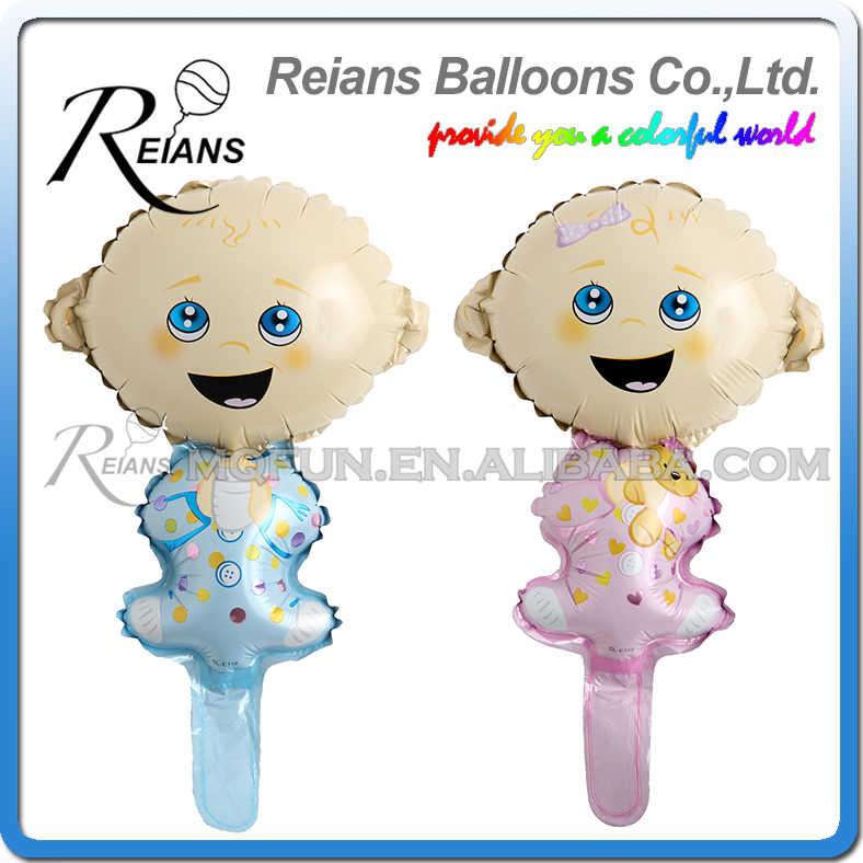 День рождения украшения детский воздушный шар фольги для маленьких мальчиков и девочек воздушный шар для день рождения Декор, 41 см Большой размер, розовый или голубой