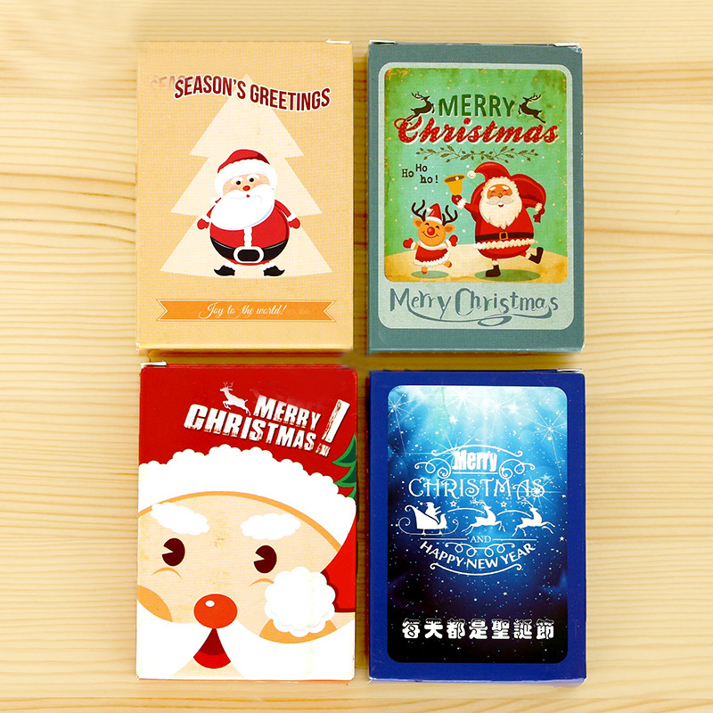 28Pcs/Pack New Small Christmas Special Combination Postcard Lovely Mini Greeting Card Gift H0344