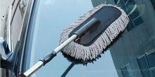 Limpieza de coches cepillo coche plumero polvo de cera de arrastre cera shan cepillo cera polvo cepillo largo