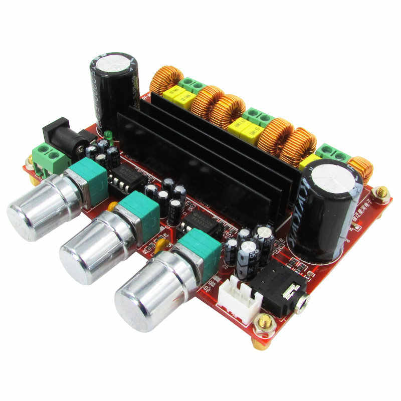 Manufactor 2.1 channel digital power amplifier papan 12 V-24 V tegangan lebar 2*50 W + 100 W TPA3116D2