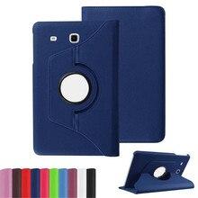 Para Samsung Galaxy Tab E 9.6 pulgadas T560 T561 SM-T560 SM-T561 TabE Tableta Caso 360 Rotación de Soporte de Cuero Del Soporte Del Tirón cubierta