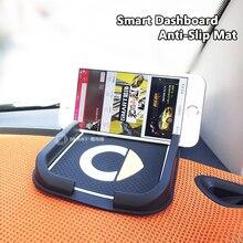 Smart Logo Car Dashboard Anti-Slip Mat Black Silica Gel Magic Sticky Pad Mat Holder For Cell Phone sunglass MP3 Player 20X11CM car sticky silicone anti slip mat for cell phone yellow
