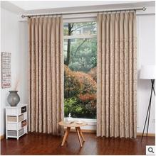 Elegant Leaves Blackout Curtains for the Bedroom Faux Linen Modern Curtains for Living Room Window Curtains Blinds Custom Made