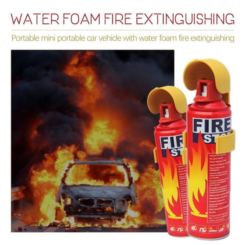 Mini Fire Extinguisher Portable Household Car Use Water Foam Compact Fire Extinguisher for Laboratories Hotels new 1 5mx1 5m fiberglass household fire blanket emergency survival fire tents personal safety fire extinguisher tents