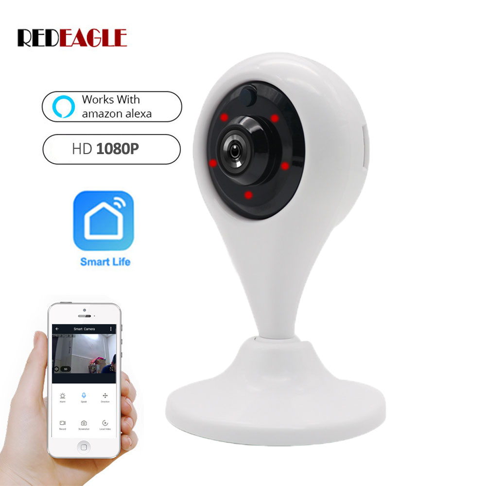 REDEAGLE HD 1080P WiFi Camera IP Wireless Video Surveillance Security Camera Support Amazon Alexa Echo Show