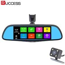 Spécial De Voiture DVR Caméra 7 «tactile Écran Miroir Rétroviseur GPS Bluetooth 16 GB Android 4.4 Double Objectif FHD 1080 p Vidéo Enregistreur Dashcam