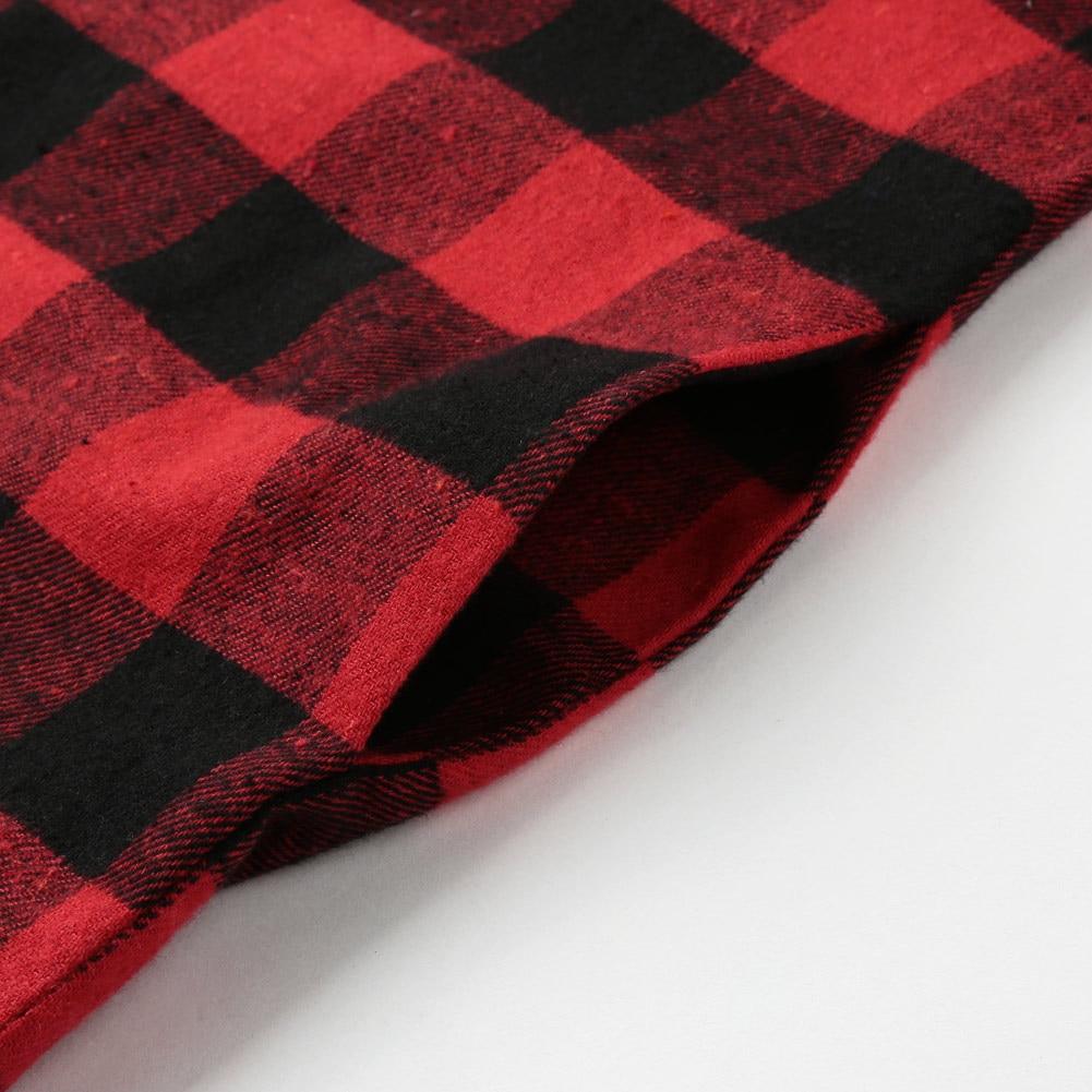 Irregular Blusa rojo Negro rojo Cheque Negro Camisa Casual Mujeres Camisas Señoras Grandes Blusas Top Tallas Plaid Manga Algodón Larga 5xl Túnica wRg6TqXH