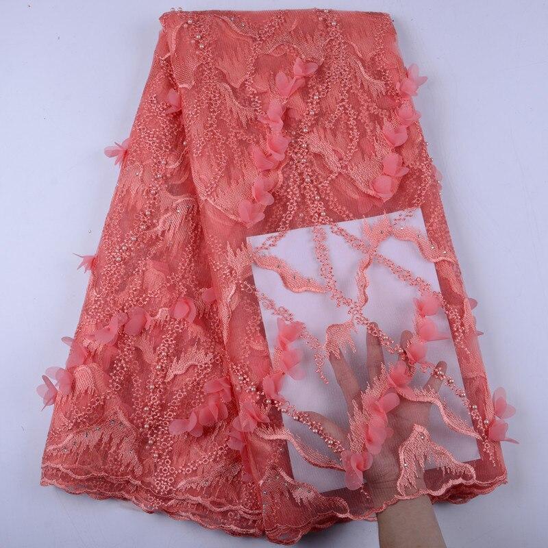 Encaje de alta calidad bordado nigeriano francés tul cordones tela para mujeres vestido tela de encaje africano A1446-in encaje from Hogar y Mascotas    1