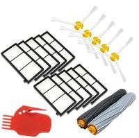 Debris Extractor Brush 10 Heap Filter 5 Side Brush Clean Tool Kit For IRobot Roomba 800