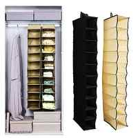 10 Sections Closet Wardrobe Shoes Clothes Organizer Hanging Storage Rack
