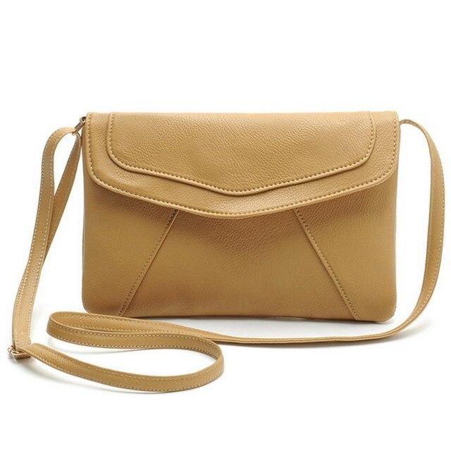 Women Envelope Bag Pu Leather Handbag Fashion Vintage Small shoulder bags  Ladies Crossbody Messenger Bag Clutch Purses 7b3199965e47b