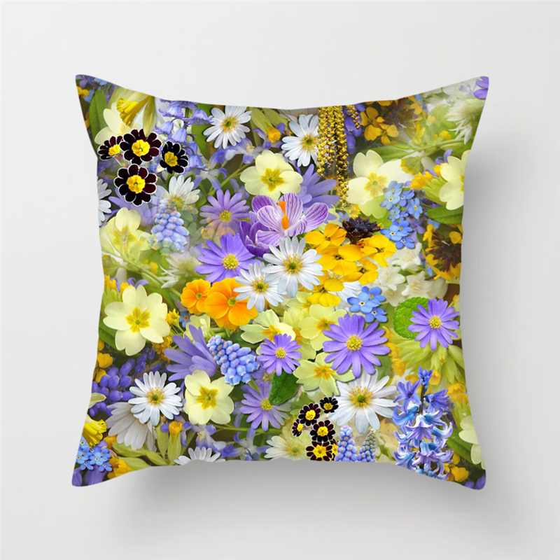 Fuwatacchi Wild Flower Printing Cushion Cover Pillow Case Home Decorative Cushion Covers Sofa Pillows Car Chair Home Decor Case in Cushion Cover from Home Garden