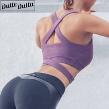 Sports Bra For Women font b Fitness b font Top High Impact Yoga Bra Sport Shockproof