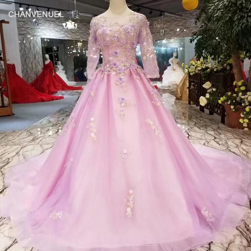 LSS335 light purple girls pageant dress o neck long ...