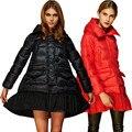 2016 European Women Down Parkas Coats with Hoody Winter Warm Overcoats Female Cloak 3XL VF1078