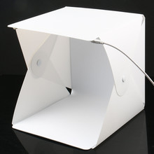 купить Mini Folding Lightbox Photography Photo Studio Softbox 2 Panel LED photo Light Soft Box 6 color Background Kit Light box по цене 761.38 рублей