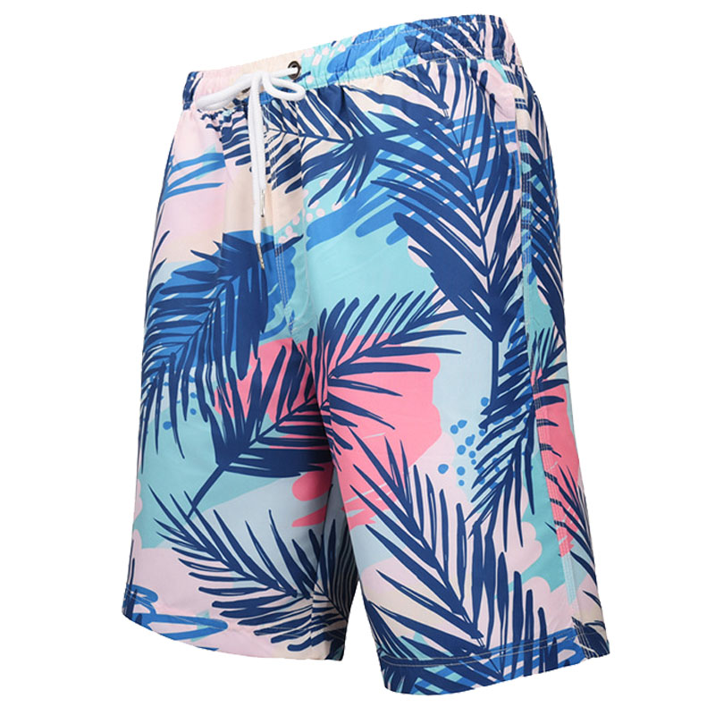 Mens Boys Swim Trunks Summer Cool Quick Dry Board Shorts Bathing Suit with Side Pockets Mesh Lining S-XXL