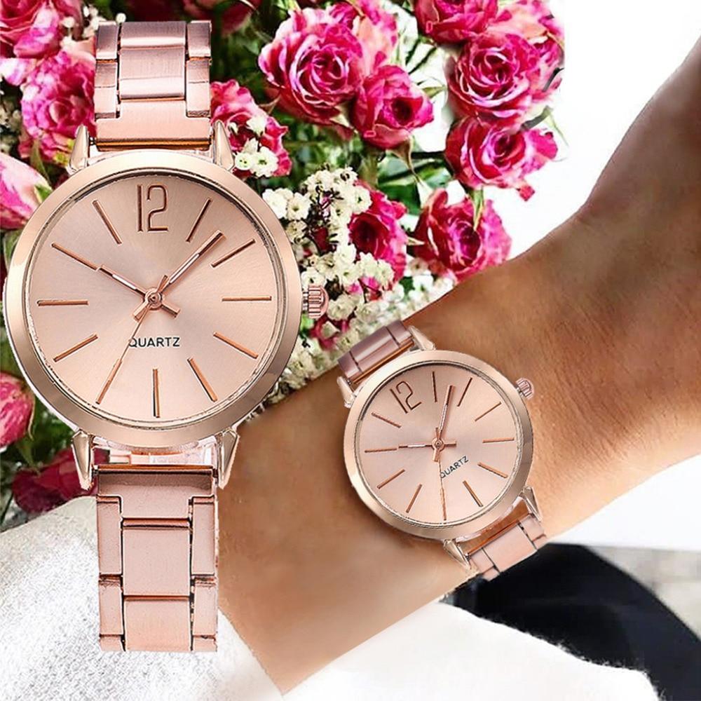 Modern Fashion Quartz Watch Stainless Steel Belt Exquisite Women Watch High Quality Casual Wristwatch Gift For Female Reloj#B