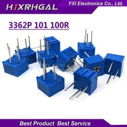 10 шт. 3362P-1-101LF 3362 P 100 Ом 3362P-1-101 3362P-101 3362 P101 101 Подстроечный резистор Триммер Потенциометр переменный резистор