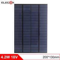 ELEGEEK 4,2 Вт 18 в DIY Солнечная батарея поликристаллический ПЭТ + EVA ламинированная мини солнечная панель для солнечной системы и тестирования 200*...