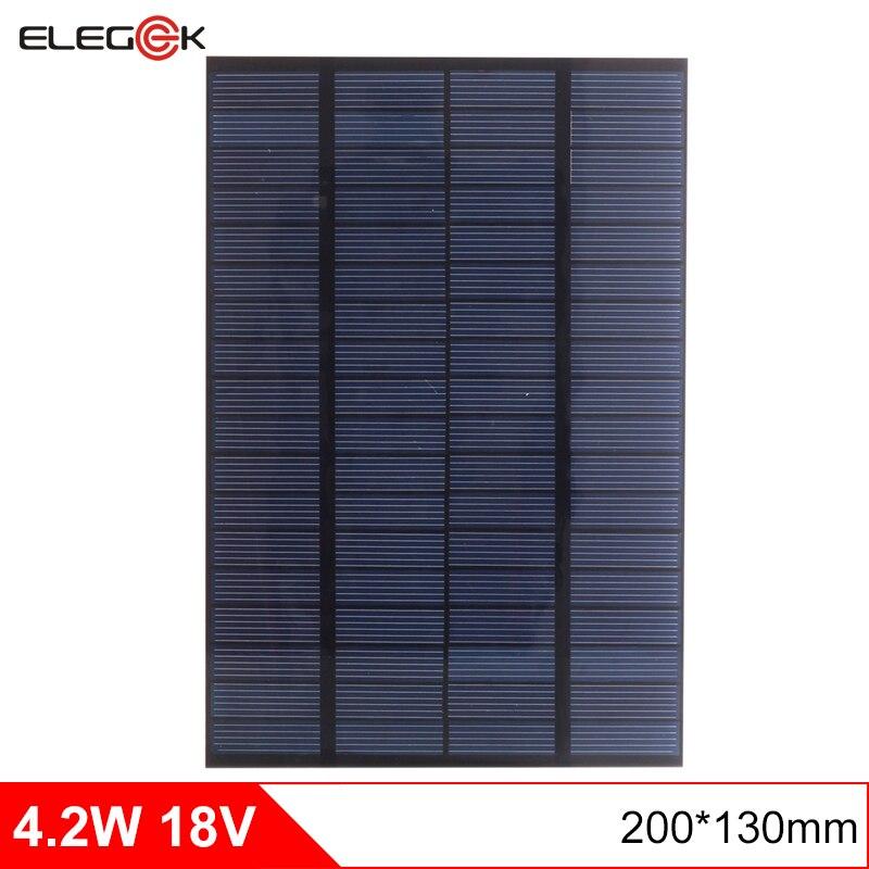 ELEGEEK 4,2 Watt 18 V DIY Solarzellen Polykristalline PET + EVA Laminiert Mini Solar Panel für Solar System und Test 200*130mm