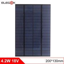 ELEGEEK 4.2W 18V DIY Solar Cell Polycrystalline PET + EVA Laminated Mini Solar Panel for Solar System and Test 200*130mm