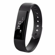 NOVA ID115 HR Inteligente Pulseira Relógio Contador de Passos de Fitness Rastreador Bluetooth Inteligente Pulseira Banda Esporte Monitor de Sono Smartband