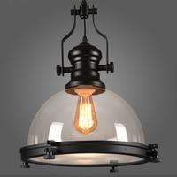 Лофт творческий ретро ресторан бар подвесной светильник Кантри стиль кованого железа балконы промышленности подвесной светильник E27 лампы