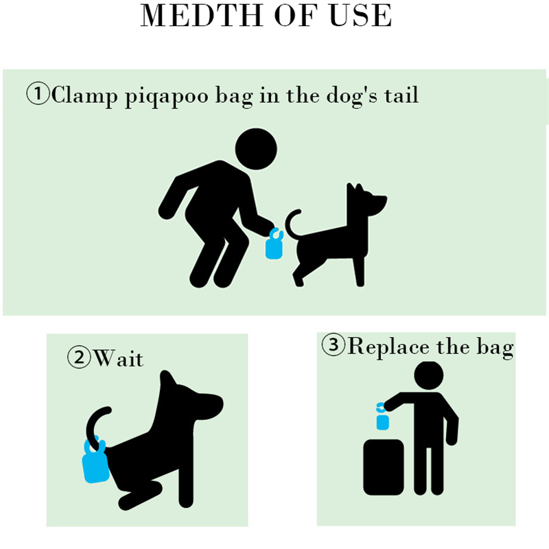 Portable Goods for Pets Waste Poop Bag With Tail Clip Dogs Toilets Holder with 20Pcs Garbage Bags Dog Cat Cleaning Tool Supplies 4