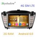 2 Г RAM Android 6.0.1 Dvd-плеер Автомобиля GPS Navi Для Hyundai Ix35 2009 2010 2011 2012 2013 2014 2015 Радио Видео Емкостный Wifi 4 Г