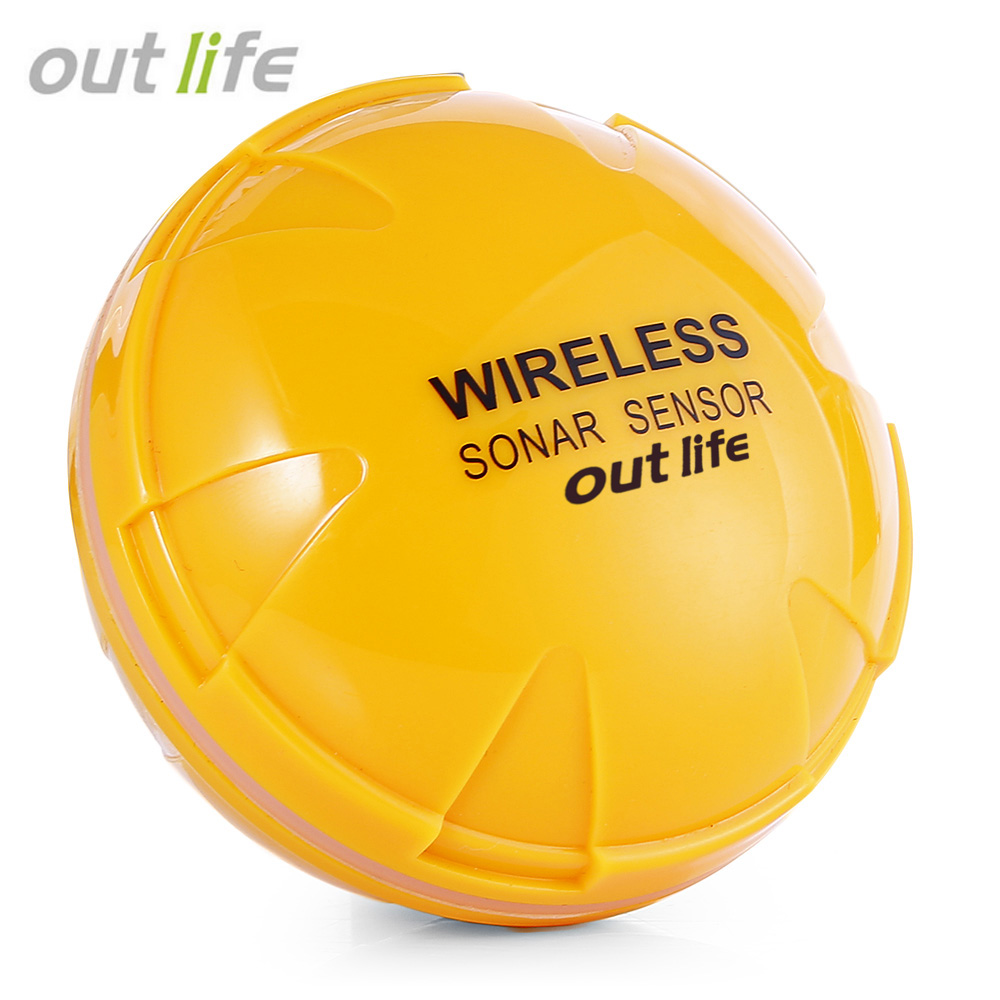 Outlife Portable Wireless Sonar Fish Finder Fishing Sounder Sensor Bluetooth Depth Sea Lake Fish Detect Device For iOS Android lucky fishing sonar wireless wifi fish finder 50m130ft sea fish detect finder for ios android wi fi fish finder ff916