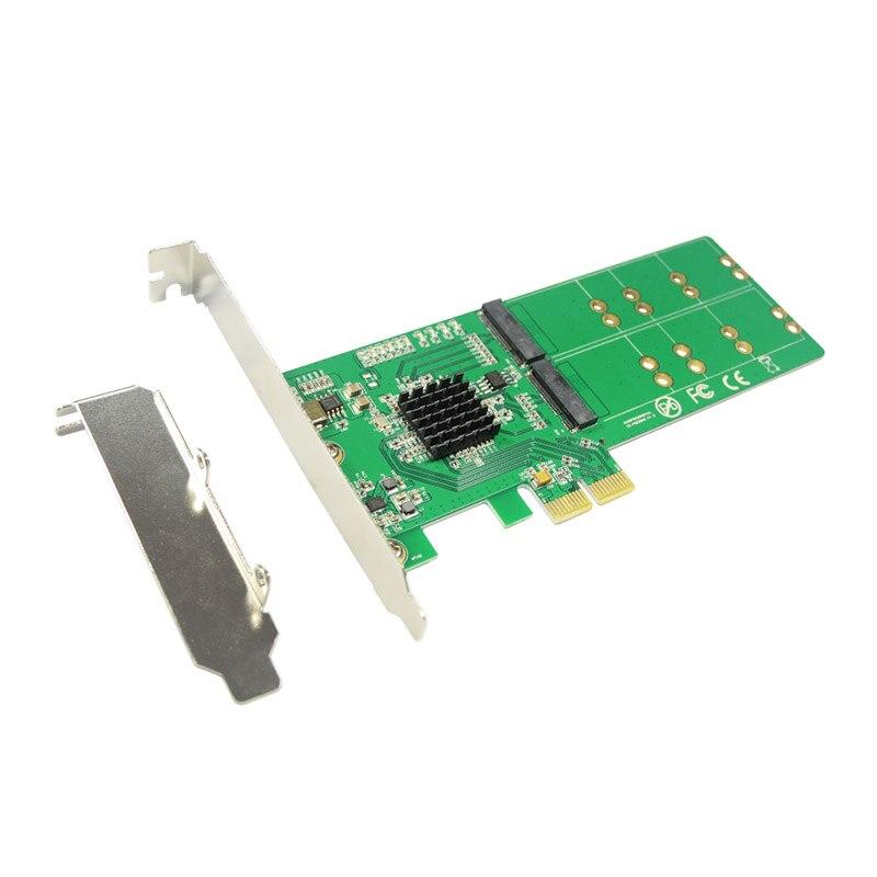 Bracket para Sandisk 2.0 para 4x b + m Express Chave Pci-e Cartão 2x Sata Adaptador Ngff Pcie Low Profile X110 X400 Pci M.2 Ssd