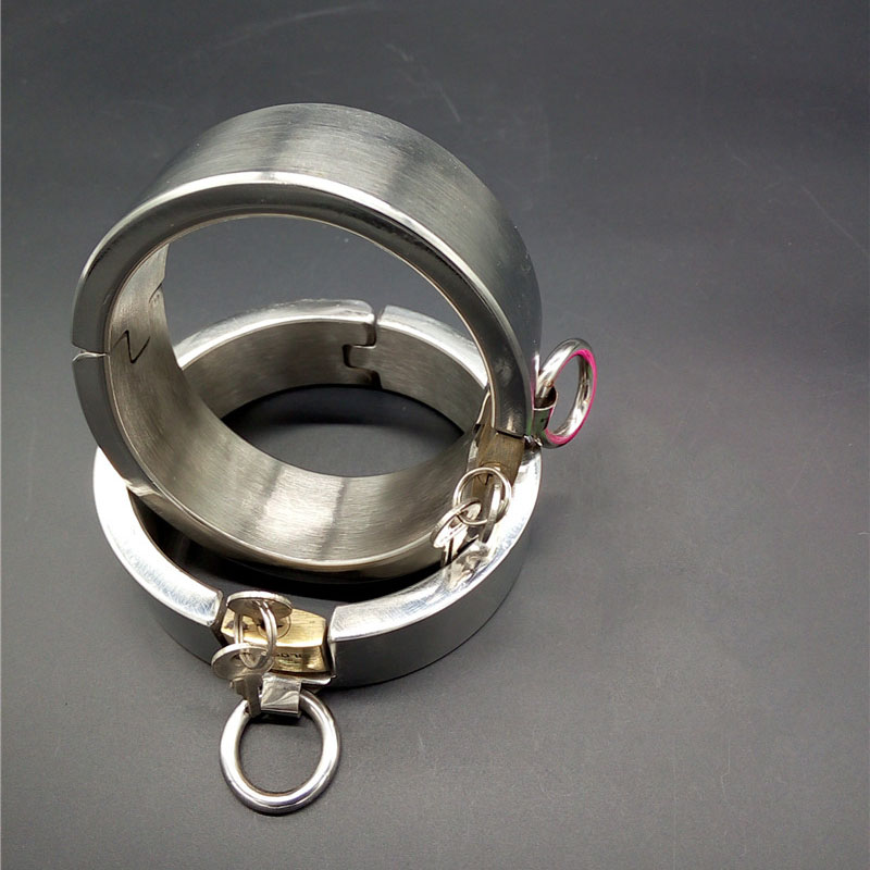 Hot stainless steel metal ankle cuffs bondage lock shackle sex leg irons bdsm slave toys sex products for adult games tools metal leather bondage harness leg irons ankle cuffs adult games bdsm fetish slave restraints sex toys shackles sex products