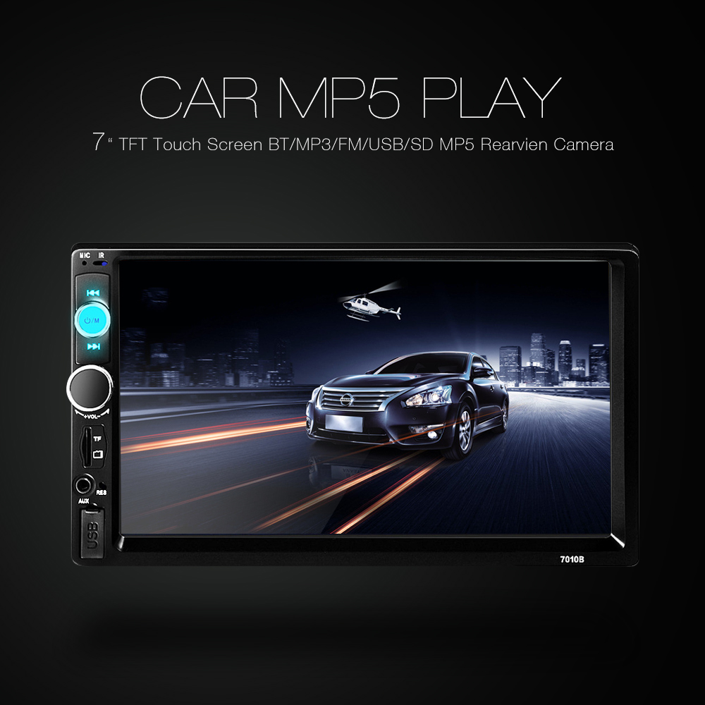 Universal 7010B Car Radio Car MP5 Player 7 Inch Bluetooth V2.0 Audio Stereo TFT Screen AUX TF USB FM Radio Support Backup Camera