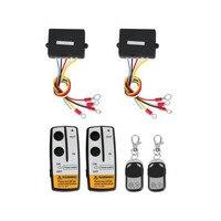 Marsnaska New 2 x Wireless Winch Remote Control Kit 12V 50ft For Truck Jeep SUV ATV
