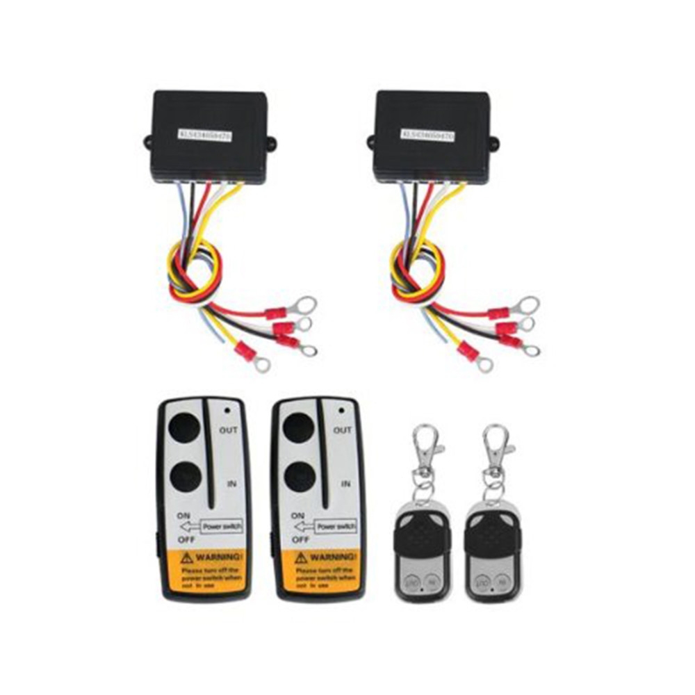 Marsnaska New 2 x Wireless Winch Remote Control Kit 12V 50ft For Truck Jeep SUV ATV