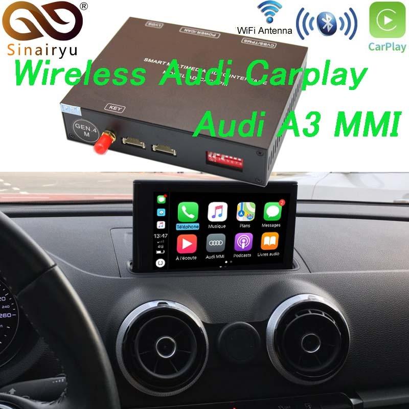 Solução Sem Fio Da Apple Carplay para Audi A3 3 Sinairyu G/3G MMI com Câmera Reversa para Audi