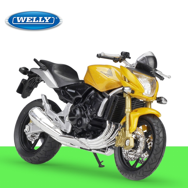 1:18 Welly HONDA Hornet Yellow Diecast Motorcycle