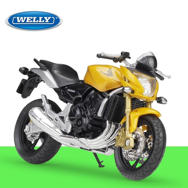 1:18 Welly HONDA Hornet Yellow Diecast Motorcycle