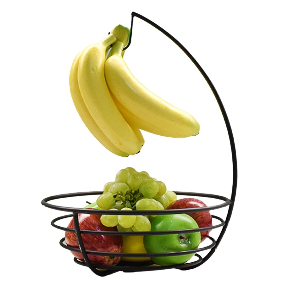 HIPSTEEN Metal Banana Hook Rack Creative Fruit Basket Storage Rack