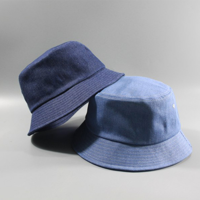 uk store various design buy popular US $8.85 31% OFF|Big Head Man Large Size Bucket Hat Men and Women Four  Season Solid Color Denim Plus Size Fisherman Hats 57 60cm 62 65cm-in Men's  ...