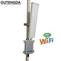 Дальность 2,4 м Wifi передатчик удлинитель 400 ГГц 300Mbs беспроводной маршрутизатор Открытый AP WiFi точка доступа базовая станция с 14dbi ANT