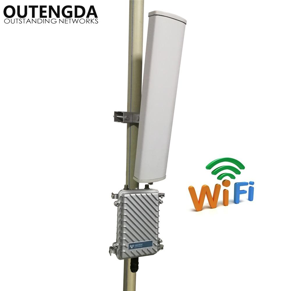 Длинный Диапазон 400 метров Wifi удлинитель для передатчика 2,4 ГГц 300Mbs беспроводной маршрутизатор Открытый AP WiFi точка доступа базовая станция