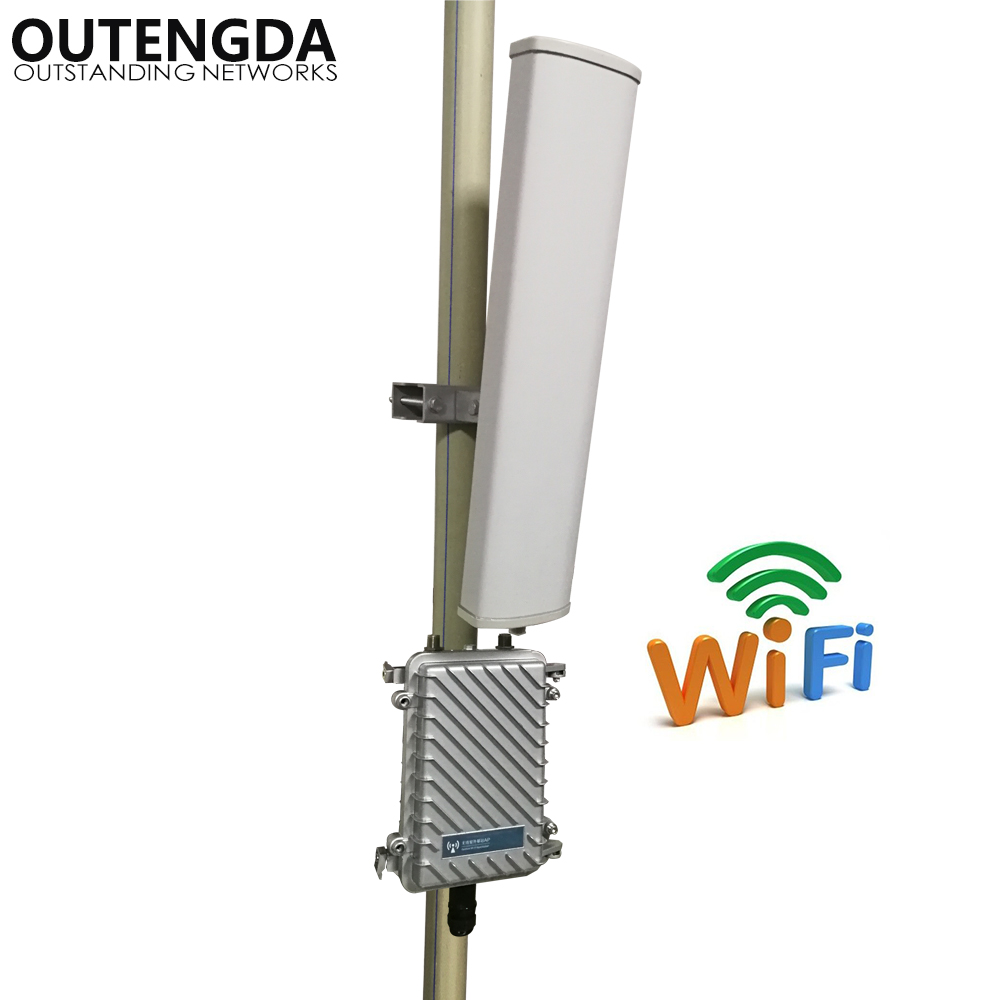 Long Range 400meters Wifi Transmitter Extender 2.4GHz 300Mbs Wireless Router Outdoor AP WiFi Hotspot Base Station with 14dbi ANT