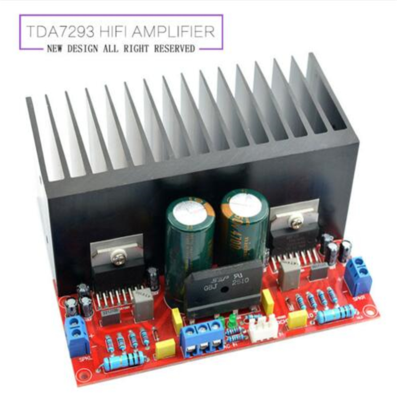 dual AC12-32V 2.0 channel TDA7293 100+100W HIFI Stereo Audio Amplifier Board