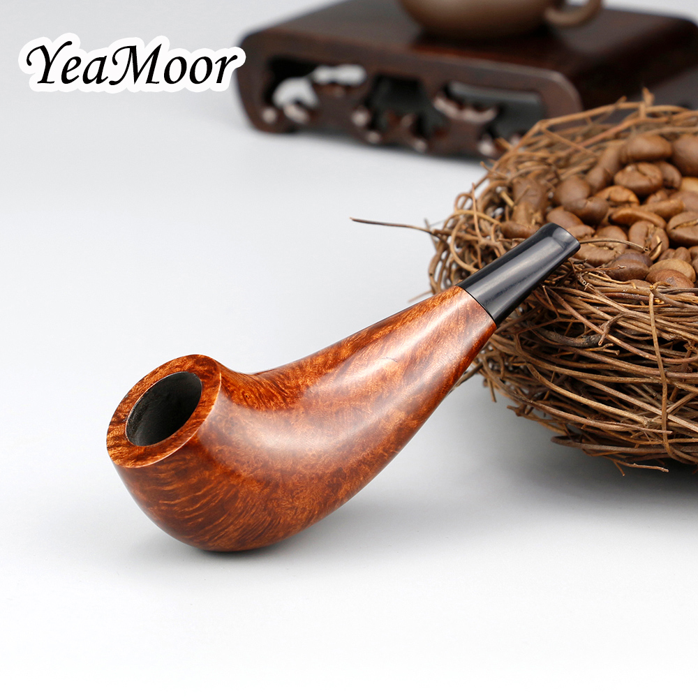 Classic Mini Briar Wood Pipe 100 cleaners free 3mm Filter Smoking Pipe Tobacco Accessory 9 5cm