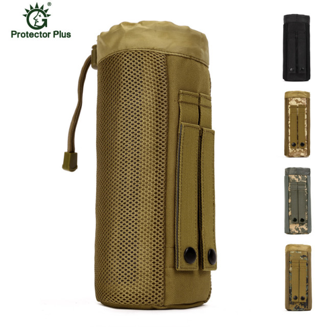 Molle Water Bottle Camouflage Kettle Set Field Tactics Pocket Accessories Small Carrier Holder Bag S29