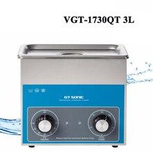 3L Nettoyeur À Ultrasons Minuterie Réglage de La Température Inoxydable Réservoir De Bain Pour Électronique Pièces Chirurgicales De Nettoyage Machine VGT-1730QT