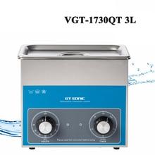 3L Ultradźwiękowy Cleaner Zegar Ustawienie Temperatury Kąpieli Dla Maszyna Do Czyszczenia Części Elektroniczne Chirurgiczne Ze Zbiornika VGT-1730QT