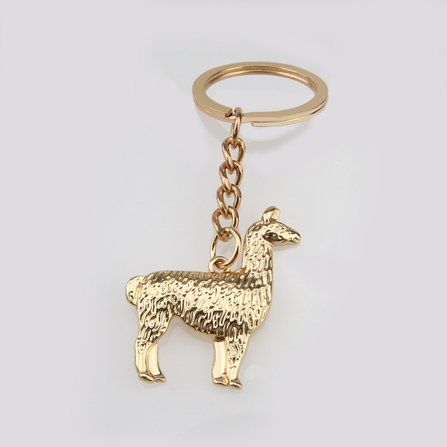 New Arrival Hot Sell Alloy Llama Keychain South Anerican Charm Gold And  Silver Llama Alpaca Jewelry Lovely Keychain For Gifts 801221fad